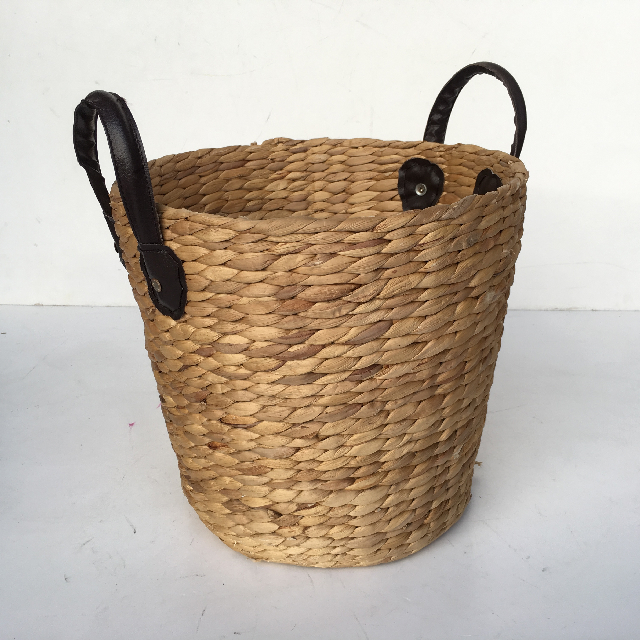 BAS0076 BASKET, Small Leather Handles 20-30cm $7.50