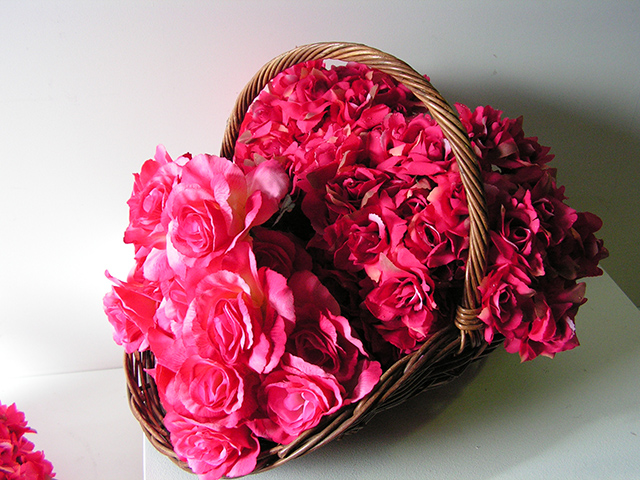 Flower Basket & Roses