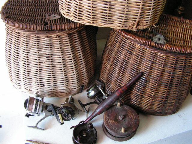 Vintage Fishing Kreel Baskets