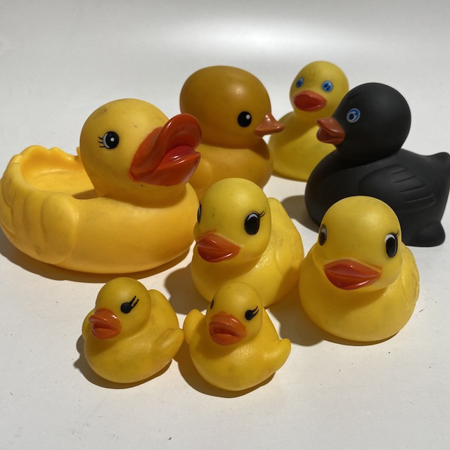 BAT0050 BATH TOY, Rubber Duck Assorted $1.25