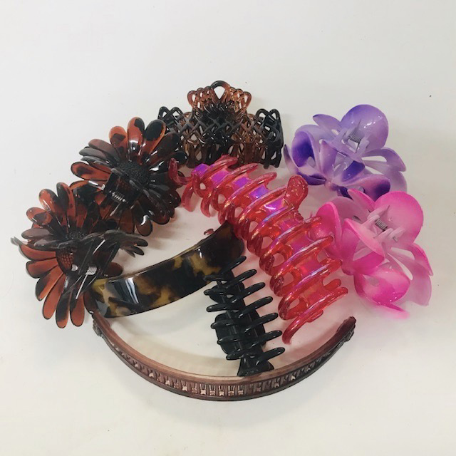 HAI0018 HAIR CLIP, Plastic Assorted Hair Accessory $1