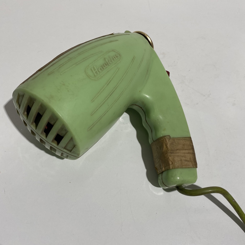 HAI0004 HAIR DRYER, 1950s Retro Lime Green - Hawkins $10