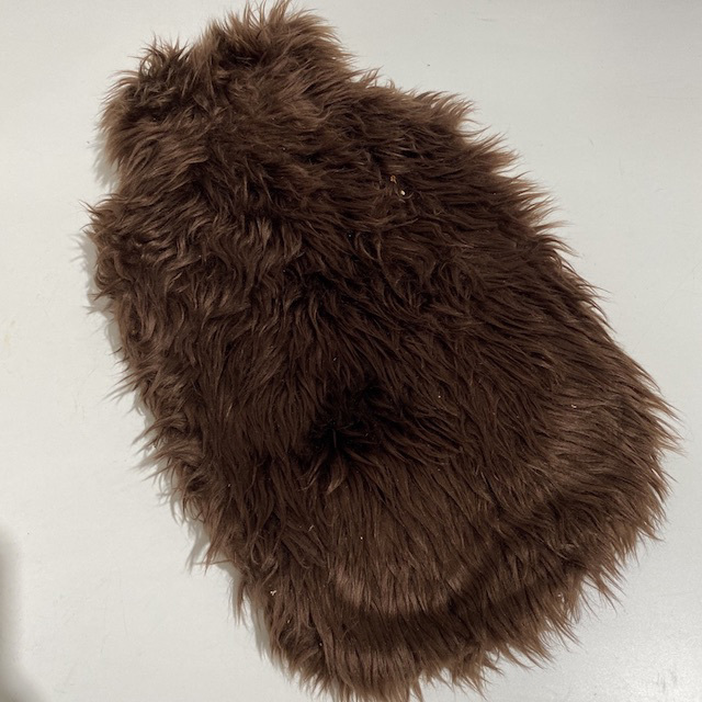 HOT0001 HOT WATER BOTTLE, Brown Fur $7.50