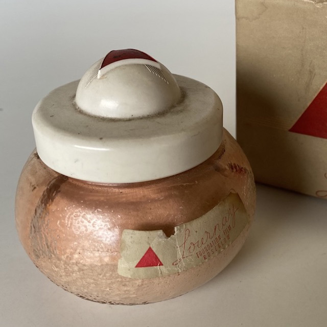MAK0018 MAKE UP, Vintage Lournay Foundation Jar $10