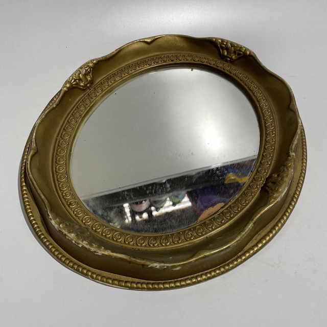 MIR0016 MIRROR, Gold Gilt Oval Frame - Small $10