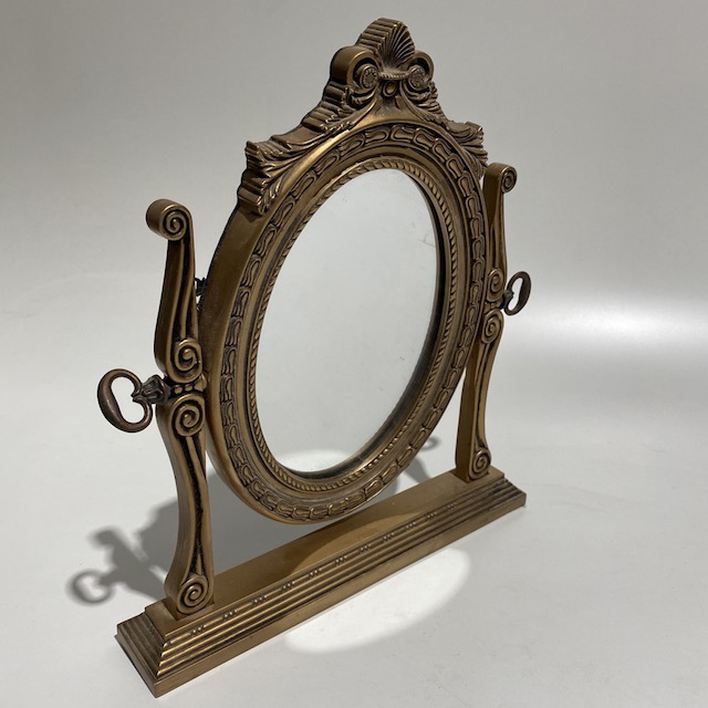 MIR0012 MIRROR, Gold Gilt Table Top 25cm x 28cm H $10