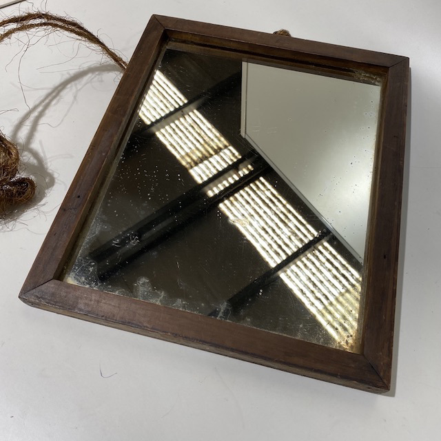 MIR0040 MIRROR, Small Bevelled in Vintage Frame $15