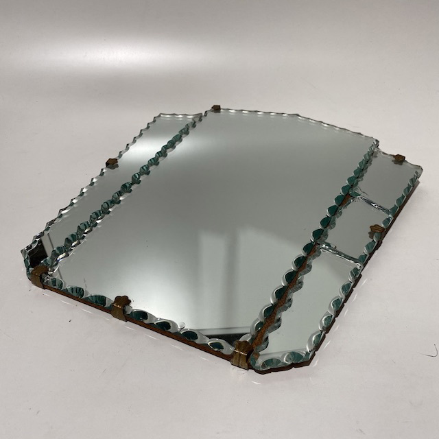 MIR0041 MIRROR, Vintage Deco 3 Panel (Broken RHS) $15