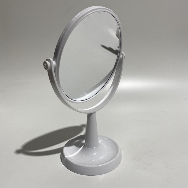 MIR0031 MIRROR, White Table Top or Make Up $6.25