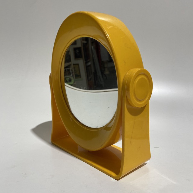 MIR0033 MIRROR, Yellow Retro Make Up Style $10