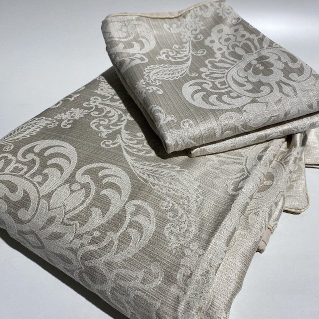 QUI0004 QUILT COVER SET, Champagne Gold Damask - Queen $30