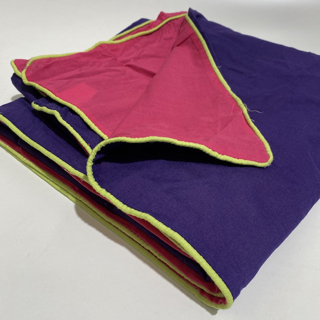 QUI0009 QUILT COVER, Girls Purple Pink - Double $12.50