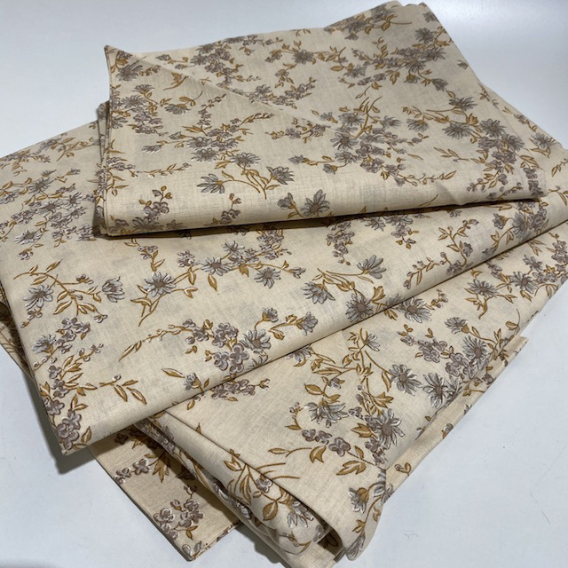 SHE0053 SHEET SET,  Brown Floral (2 Sheets, 2 Pillowcases) - Double $30