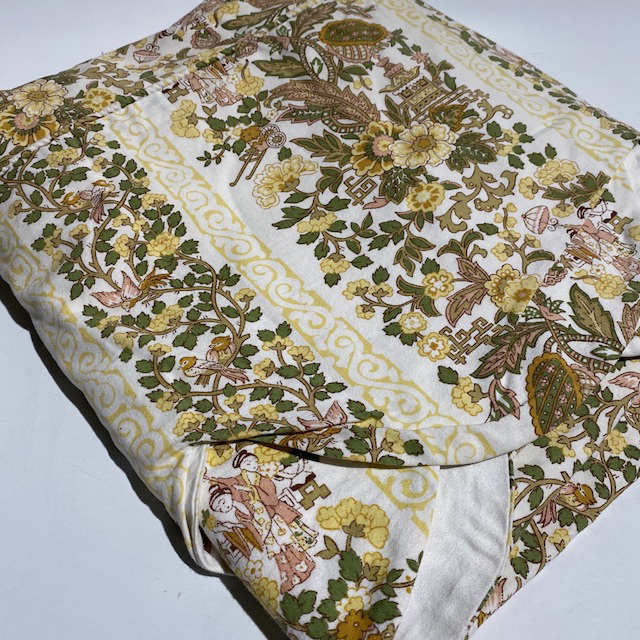 BLA0231 BLANKET, Bedspread - Floral Laura Ashley Print Yellow Olive Single $20
