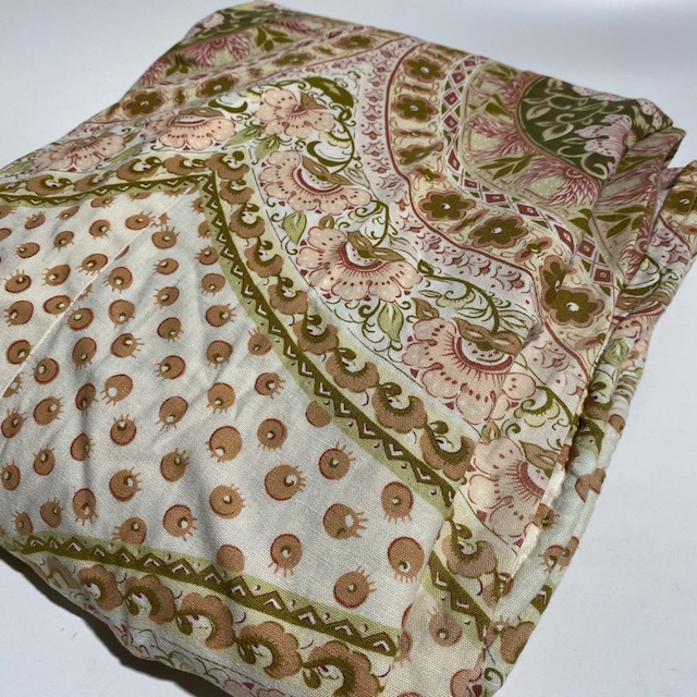 BLA0232 BLANKET, Bedspread - Floral Pink Green Double $20