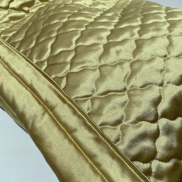 BLA0240 BLANKET, Bedspread - Retro Quilted Chartreuse Gold Queen $30