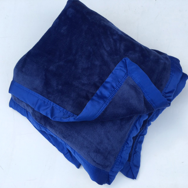 BLA0166, BLANKET, Blue Plush $10