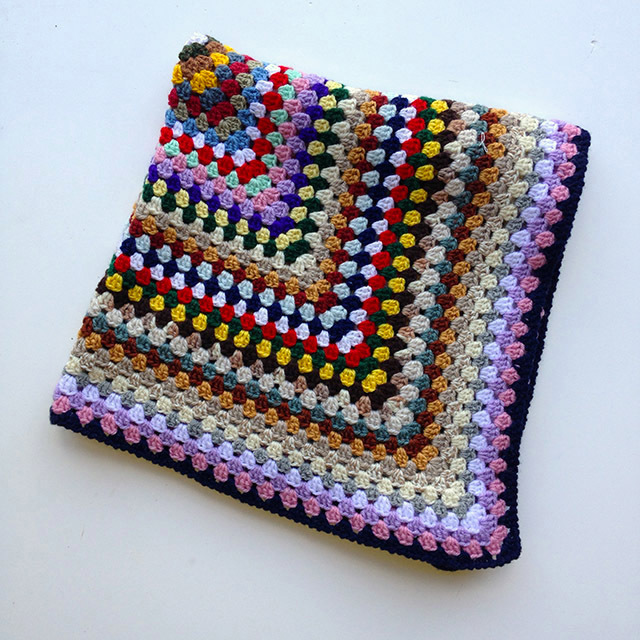 BLA0116, BLANKET (Throw), Crochet 1970 Multicolour Small $12.50