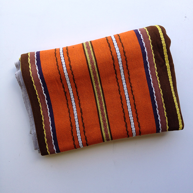 BLA0104, BLANKET (Throw), Orange Brown Stripe $10