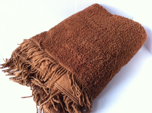BLA0142, BLANKET, Bedspread - Chenille Brown - Single $18.75