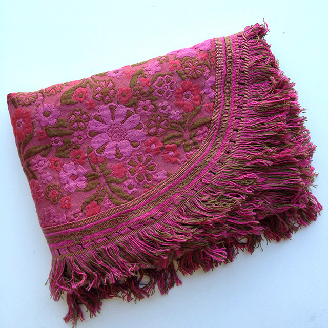 BLA0147, BLANKET, Bedspread - Hot Pink Tan Floral - Single $20