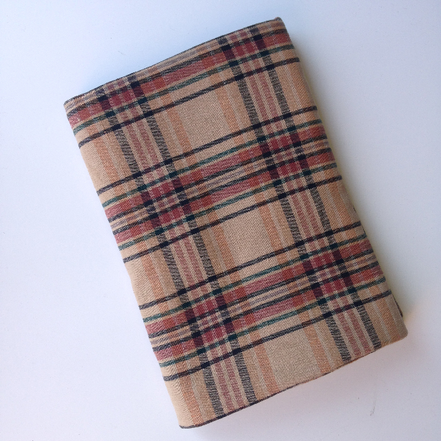 BLA0124, BLANKET, Picnic Blanket - Beige Tartan Cotton (green, black, red) $10