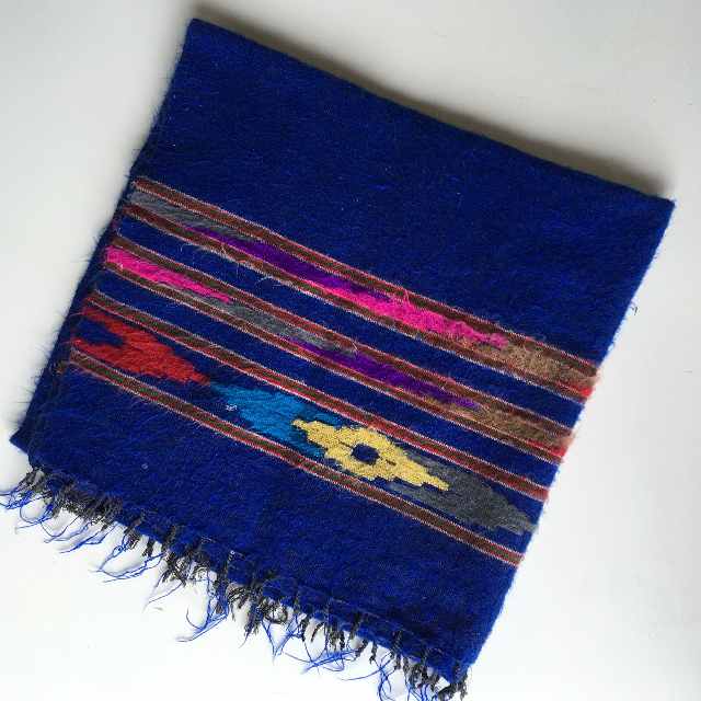 BLA0102, BLANKET (Throw), Blue Mexican $15