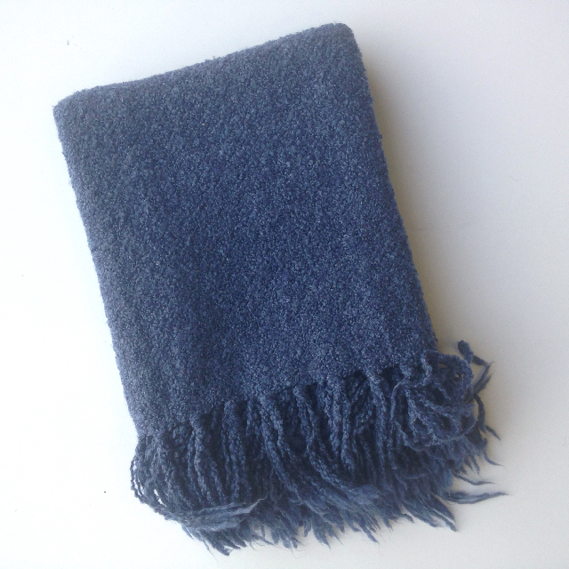 BLA0187, BLANKET (Throw), Blue $10