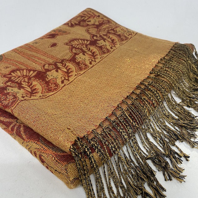 BLA0221 BLANKET, (Throw) Gold Rust Red - Indian $10