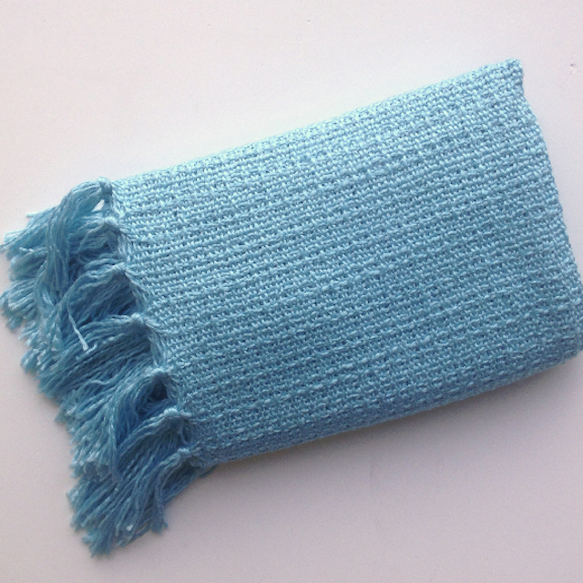 BLA0206, BLANKET (Throw), Light Blue $10