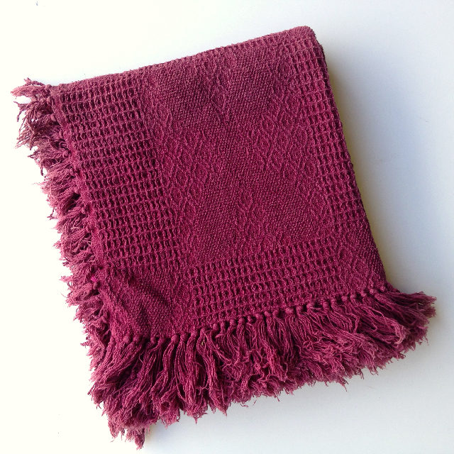 BLA0207, BLANKET (Throw), Maroon Weave $10