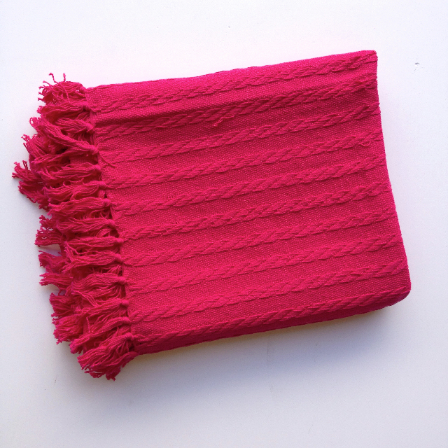 BLA0209, BLANKET (Throw), Pink Knit $10