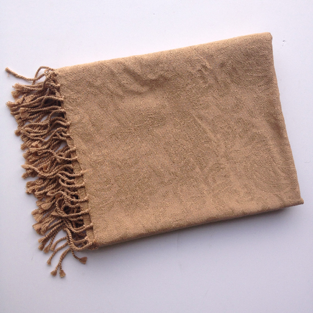 BLA0201, BLANKET (Throw), Tan Damask $7.50