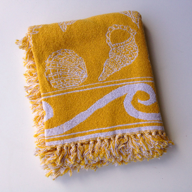 BLA0214, BLANKET (Throw), Yellow Sea Shells $10