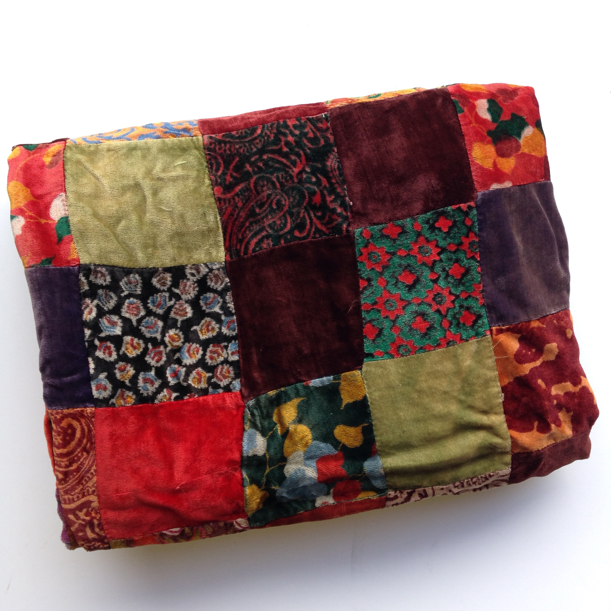 BLA0107, BLANKET (Throw), Velvet Vintage Patchwork $25