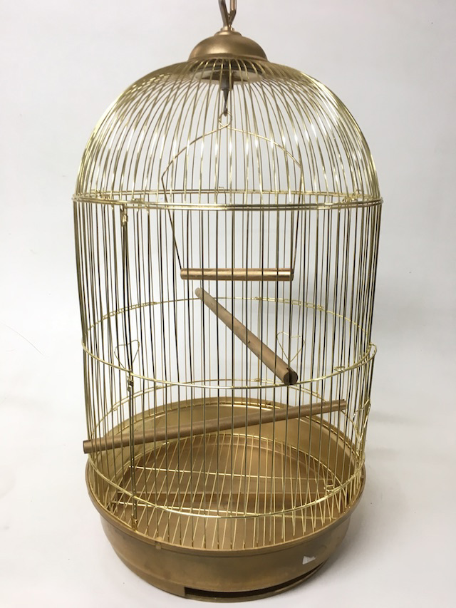 BIR0130 BIRDCAGE, Gold Dome Shape - Large 60cm $15