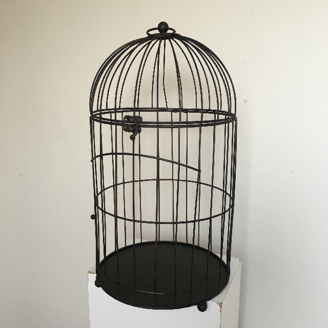 BIR0102 BIRDCAGE, Black Wire Dome $15