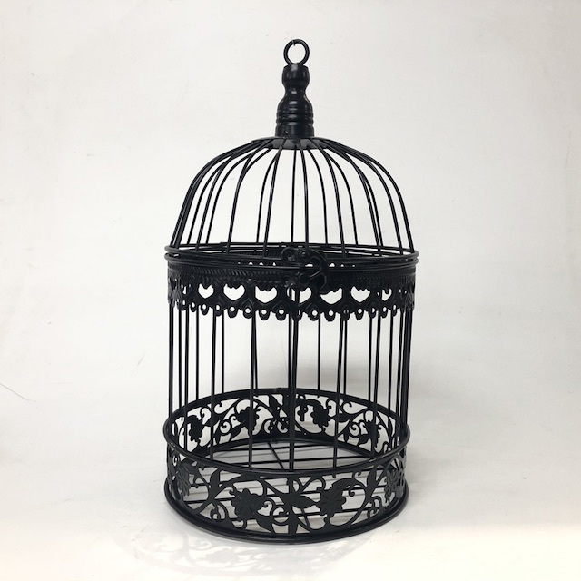 BIR0129 BIRDCAGE, Decorative Black Metal Round - Small $7.5