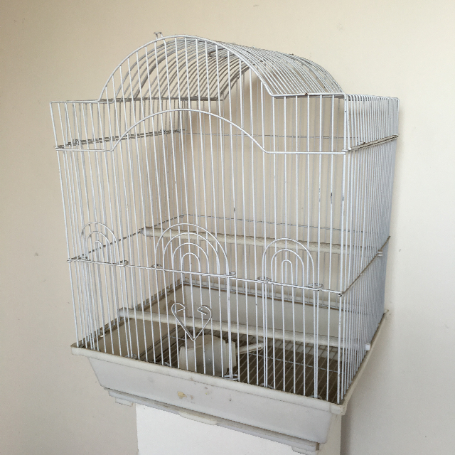BIR0109 BIRDCAGE, Wire Domestic - White $18.75