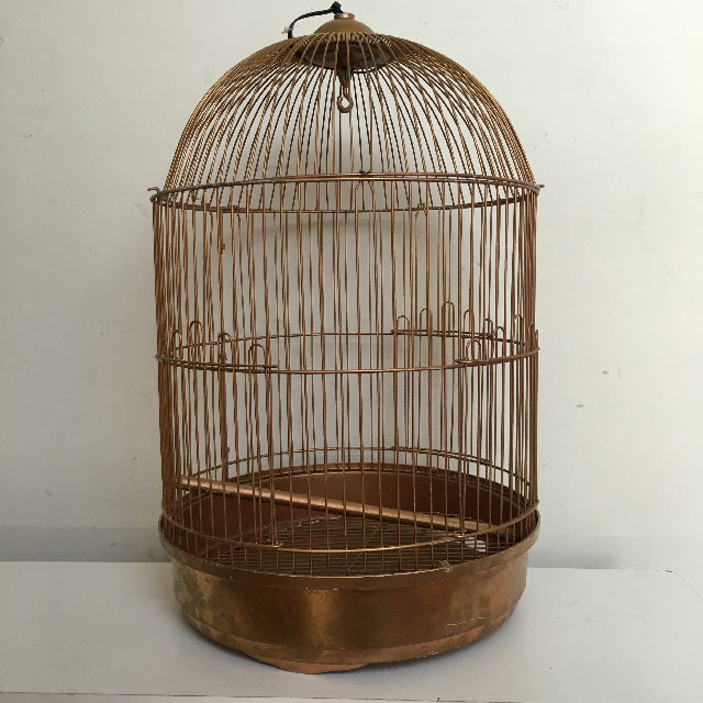 BIR0111 BIRDCAGE, Gold Dome Shape - Large $10