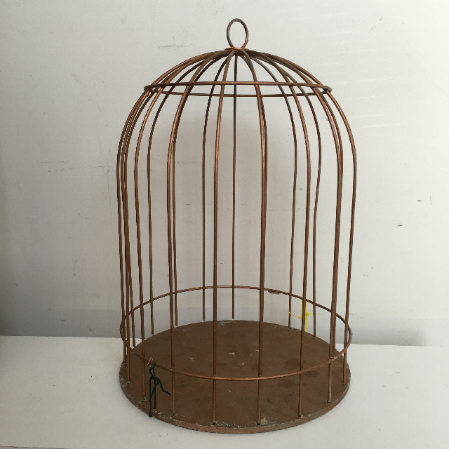 BIR0112 BIRDCAGE, Gold Dome Shape - Medium $7.50