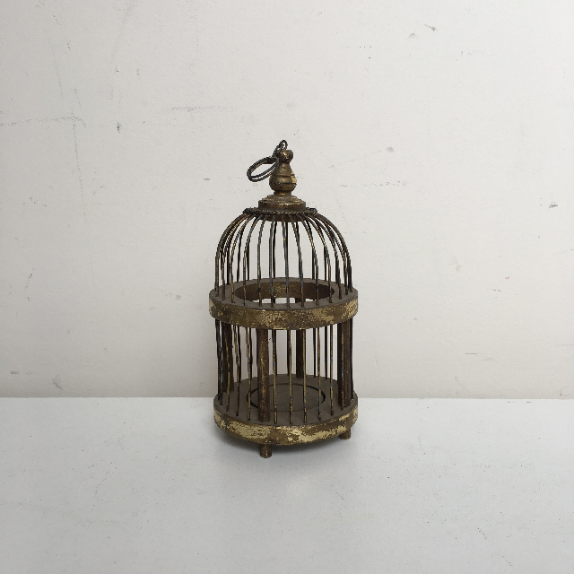 BIR0127 BIRDCAGE, Gold Dome Shape - Extra Small $7.50