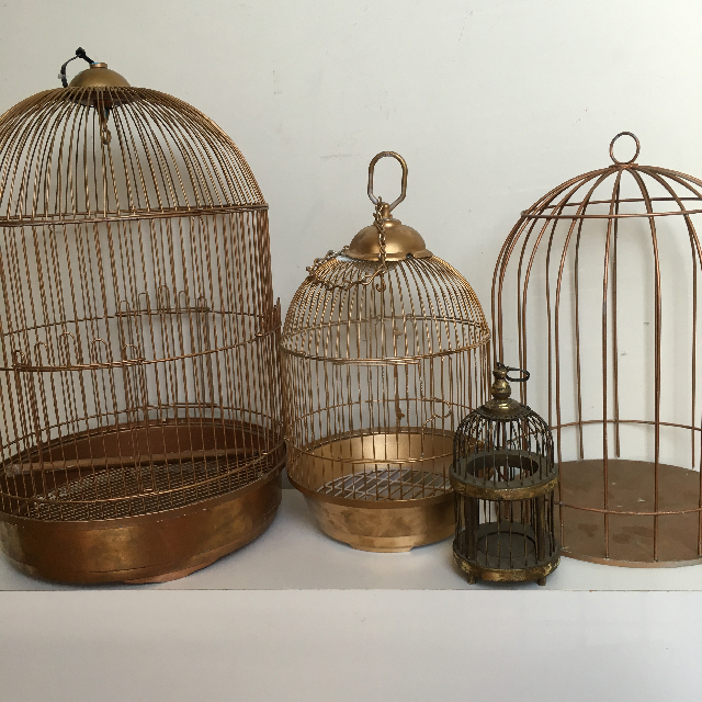 Collection of Gold Domed Birdcages