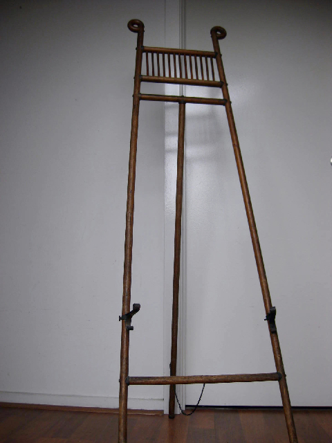 EAS0003 EASEL, Timber with Brass Detail 1.5m High $30