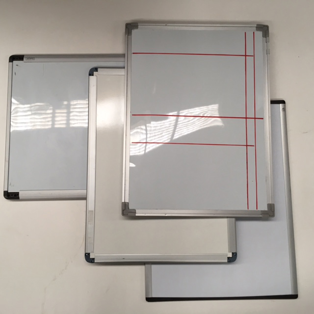 WHI0001 WHITEBOARD, Assorted Small 60cm x 45cm $16.25