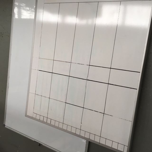 WHI0003 WHITEBOARDS, Medium $30 90cm x 1.2m & WHI0004 (Stand Attached)