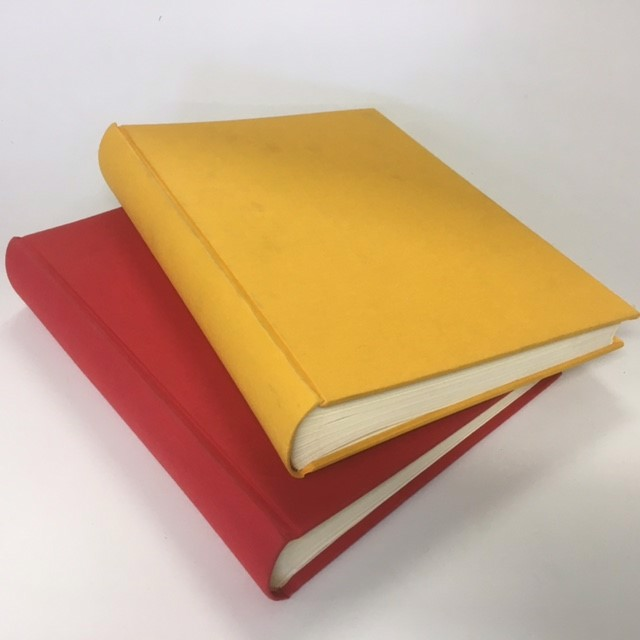 BOOK, Oversized Yellow (BOO0065) and Red (BOO0066) 31cm x 24cm $10