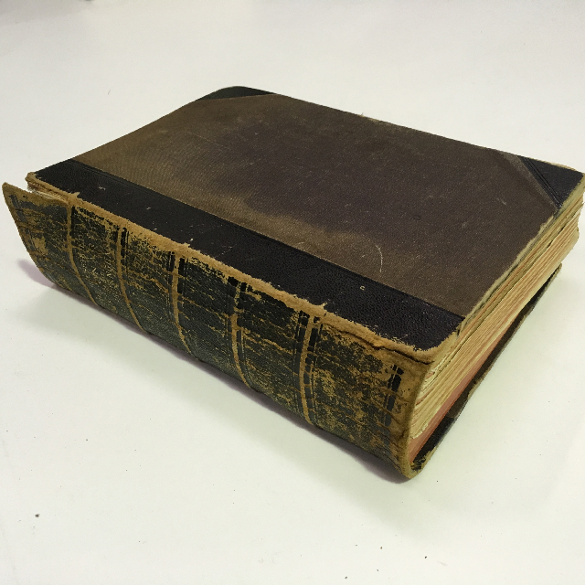 BOO0040 BOOK, Dictionary - Aged with Leather Spine $11.25
