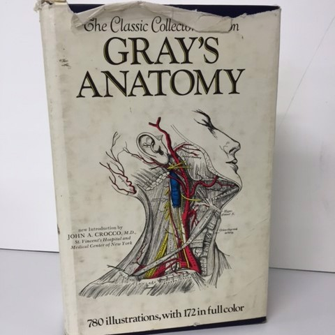 BOO0055 BOOK, Medical - Grays Anatomy Hardcover $12.50