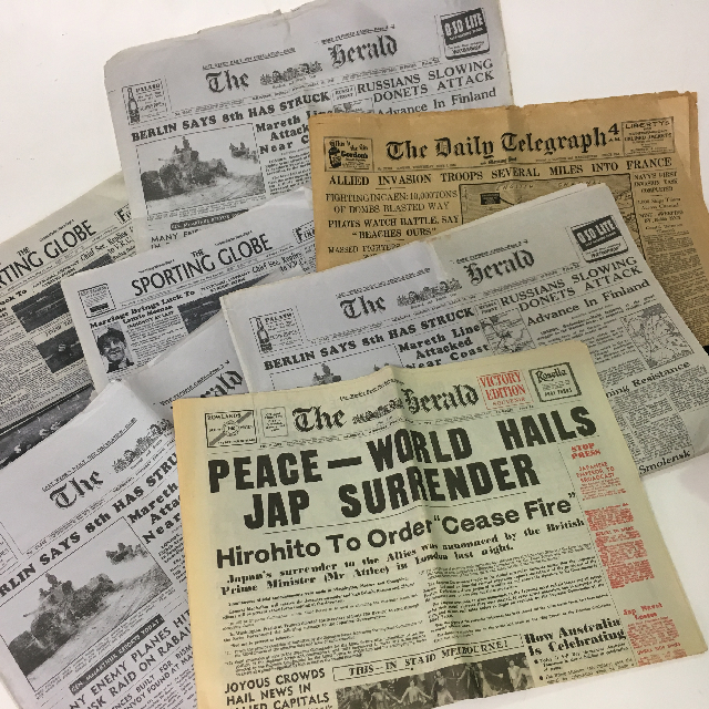 NEW0003 NEWSPAPER, Vintage 1940's Assorted $6.25